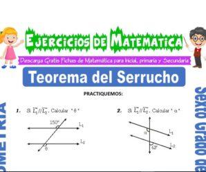 Ejercicios de Teorema del Serrucho para Sexto grado de Primaria