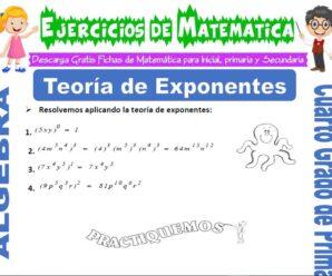 Ejercicios de Teoría de Exponentes para Cuarto de Primaria