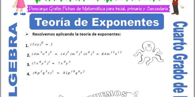 Teoría de Exponentes para Cuarto de Primaria