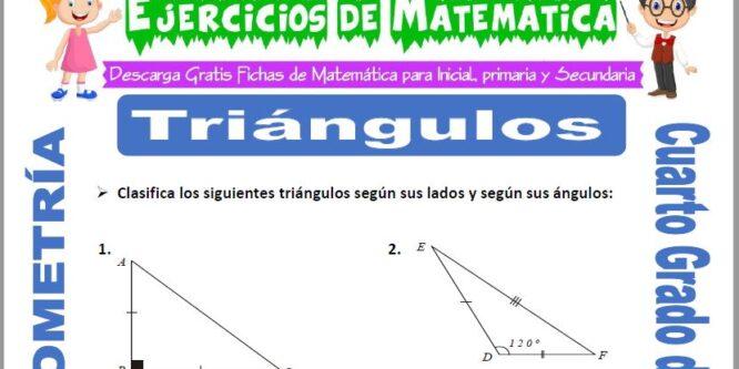 Ejercicios de Triángulos para Cuarto de Primaria