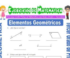 Ejercicios de Elementos Geométricos para Tercero de Primaria