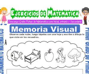 Ejercicios de Memoria Visual para Primero de Primaria