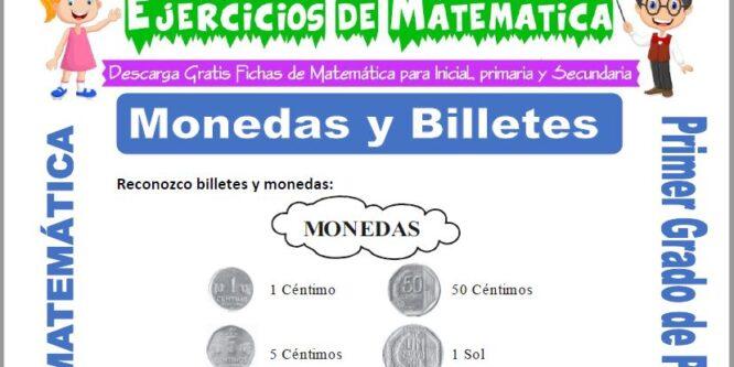 Monedas Y Billetes para Primero de Primaria