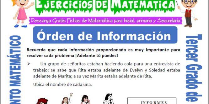 Órden de Información para Tercero de Primaria