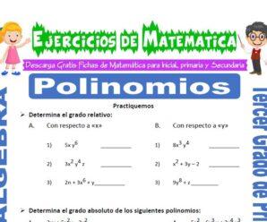 Ejercicios de Polinomios para Tercero de Primaria