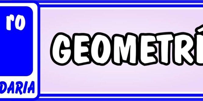 Primero de Secundaria Geometría - Ejercicios de Matemática