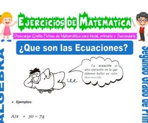 Ejercicios de Que son las Ecuaciones para Segundo de Primaria