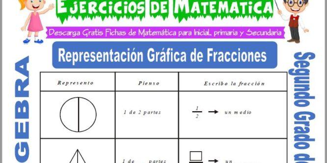 Representación Grafica de Fracciones para Segundo de Primaria