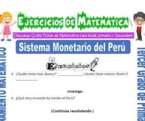 Ejercicios de Sistema Monetario del Perú para Tercero de Primaria