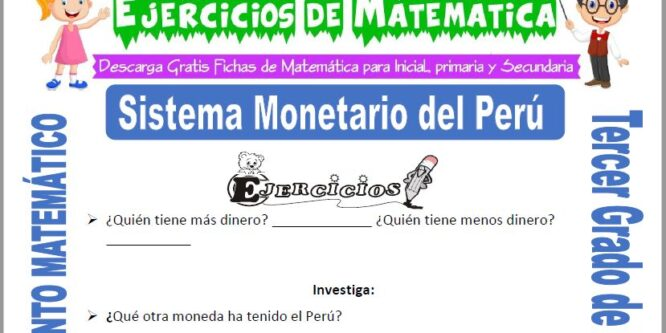 Sistema Monetario del Perú para Tercero de Primaria