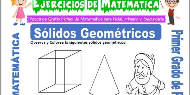 Sólidos Geométricos para Primero de Primaria