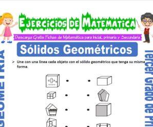 Ejercicios de Sólidos Geométricos para Tercero de Primaria