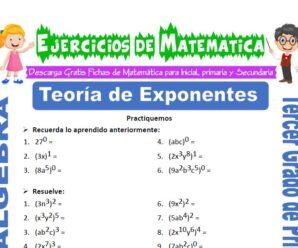 Ejercicios de Teoría de Exponentes para Tercero de Primaria