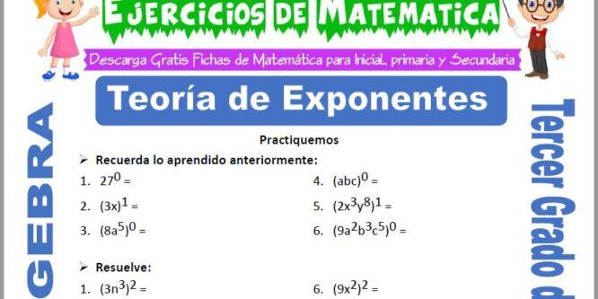 Teoría de Exponentes para Tercero de Primaria