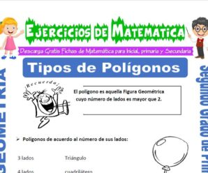 Ejercicios de Tipos de Polígonos para Segundo de Primaria