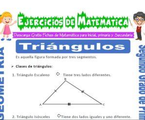 Ejercicios de Triángulos para Segundo de Primaria