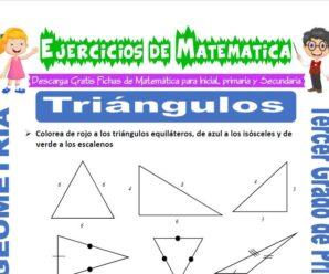 Ejercicios de Triángulos para Tercero de Primaria