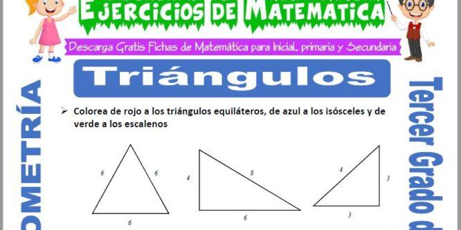 Triángulos para Tercero de Primaria